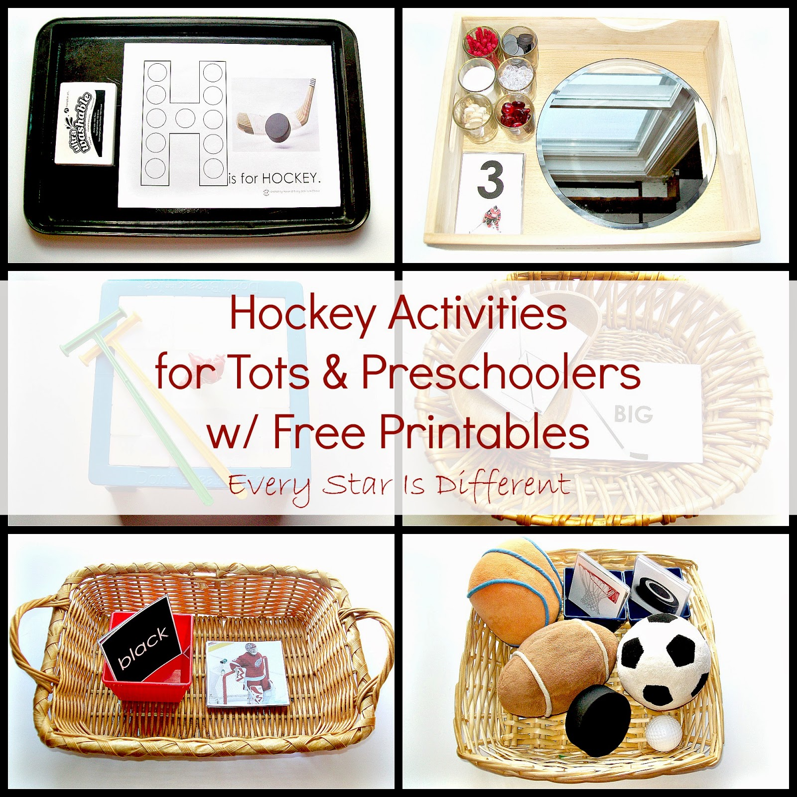 Hockey Activities for Tots and Preschoolers