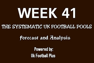 WK 41 UK football pools systematic draws on coupon