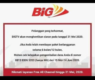 BIG TV STOP LAYANAN