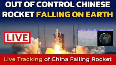 LIVE : Tracking Out-of-control Chinese rocket debris