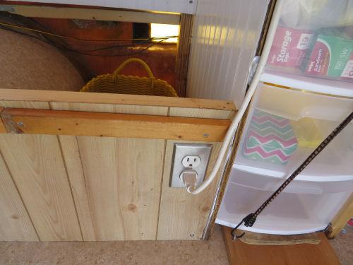 fiberglass trailer electric outlet