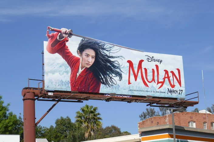 Mulan 2020 movie billboard