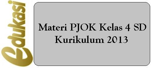 Materi PJOK Kelas 4 SD/MI Kurikulum 2013