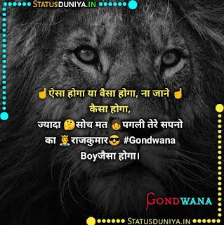 गोंडवाना स्टेटस फोटो डाउनलोड, ☝️ऐसा होगा या वैसा होगा, ना जाने ☝️कैसा होगा, ज्यादा 🤔सोच मत 👧पगली तेरे सपनो का 🤴राजकुमार😎 #Gondwana Boyजैसा होगा।