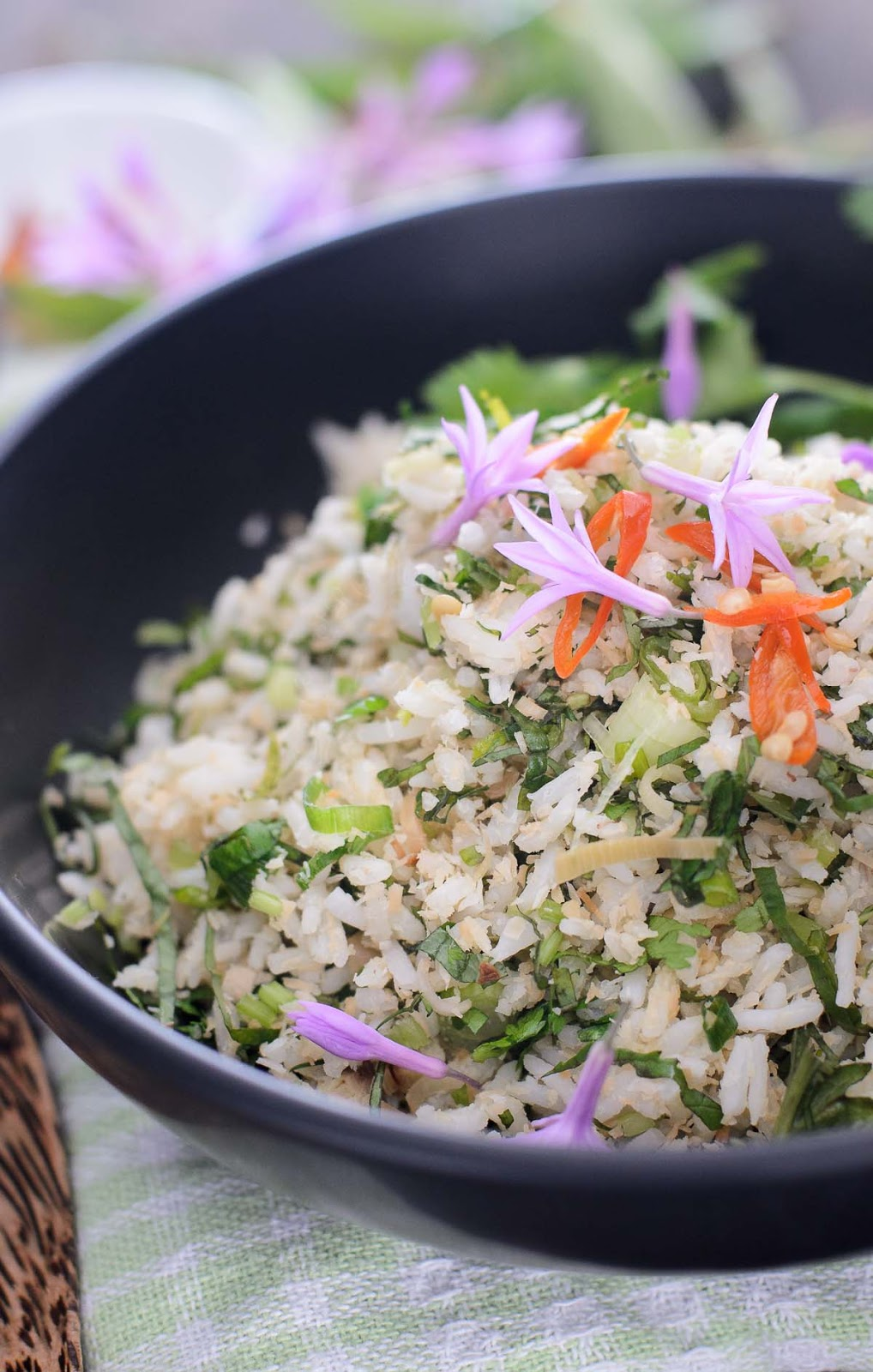 Asian Garden Herb and Rice Salad recipe
