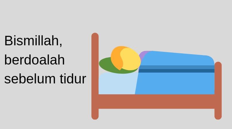 Berdoalah sebelum tidur