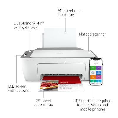 HP Deskjet 2722 Printer Specification