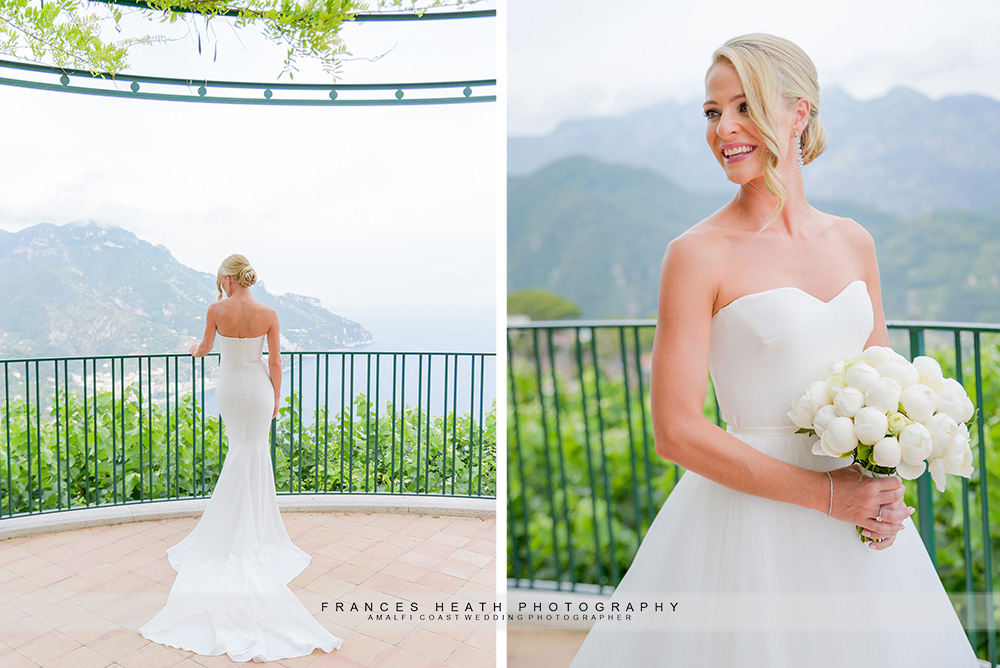 Bride portrait at Villa Eva