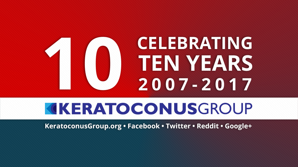 Our keratoconus community is now 10 years old