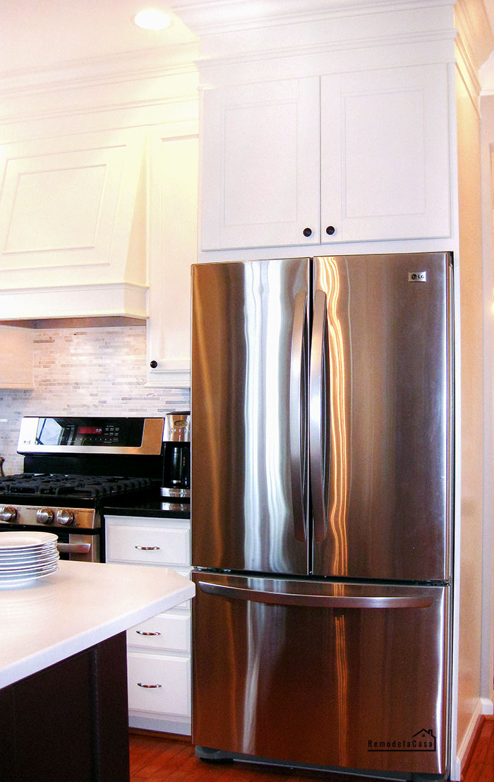 how to build a refrigerator enclosure for your kitchen.