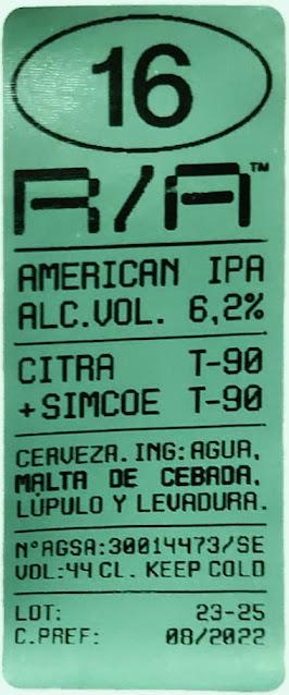 Juzgado de Etiquetas: Río Azul R/A 16 American IPA