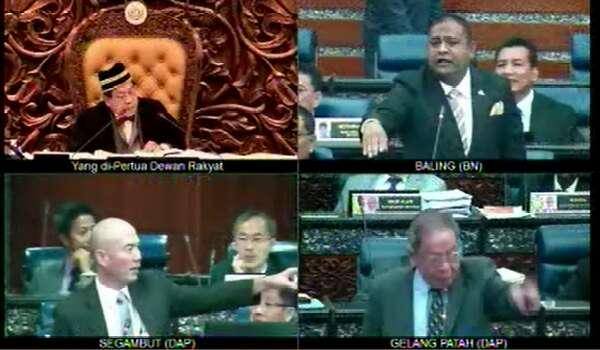 [Video] Parlimen Panas - Lim Kit Siang Cuba  Halang Pembentangan RUU355