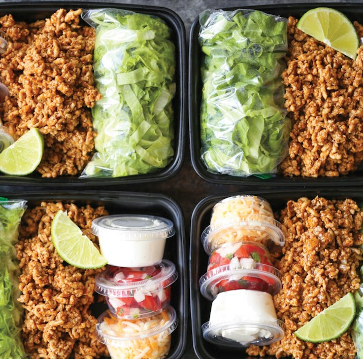 TURKEY TACO SALAD MEAL PREP #lunch #health