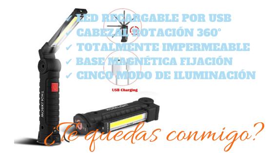 SunTop USB Recargable LED