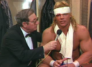 NWA Chi-Town Rumble 1989 - Bob Caudle interviews a banged up Lex Luger