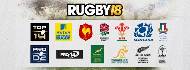 Rugby 18 llegará el 27 de octubre con 65 equipos