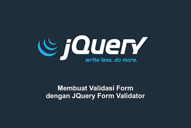Membuat Validasi Form dengan JQuery Form Validator