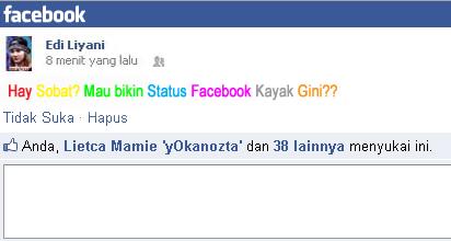 Cara buat tulisan berwarna di Komentar FACEBOOK dan Status FB