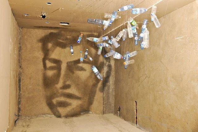 Mind Blowing Artwork of making Picture with Bottles