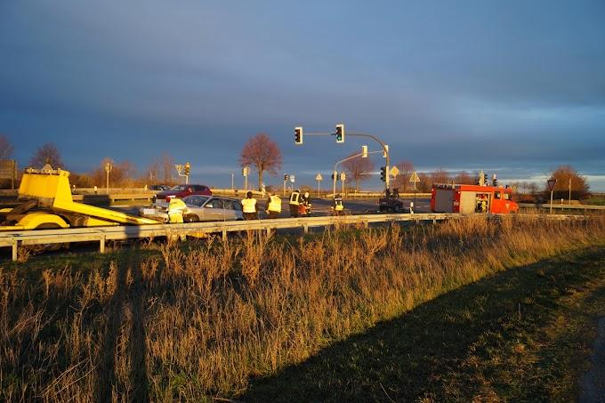 Zusammenstoß im Kreuzungsbereich der B183 bei Rödgen