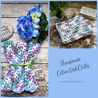 Handmade Cotton Dish Cloths Cleaning Wash Cloths