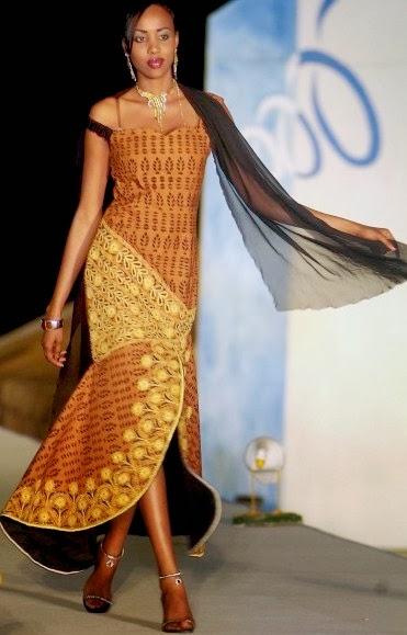 Senegalese Fashion Long Butterfly Gown Dezango