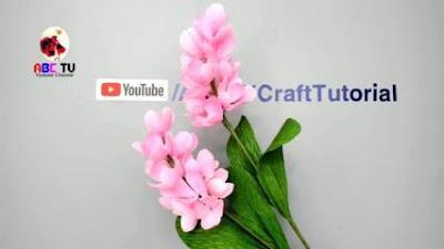 bunga kertas sederhana atau bunga kertas krep yang mudah