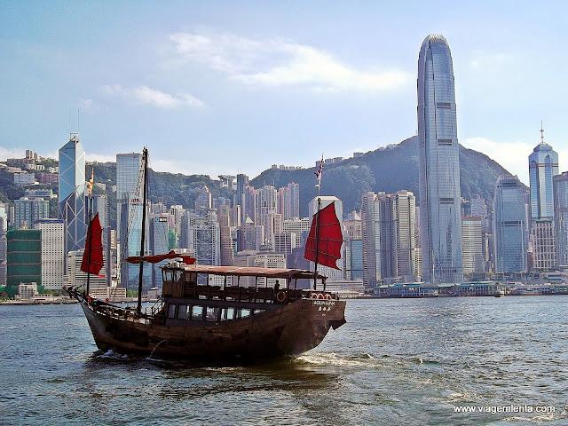Baía de Victoria e ilha de Hong Kong