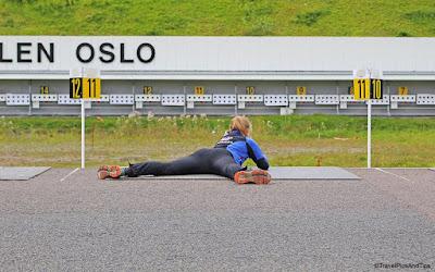Entrainement tir biathlon à Holmenkollen, près d'Oslo