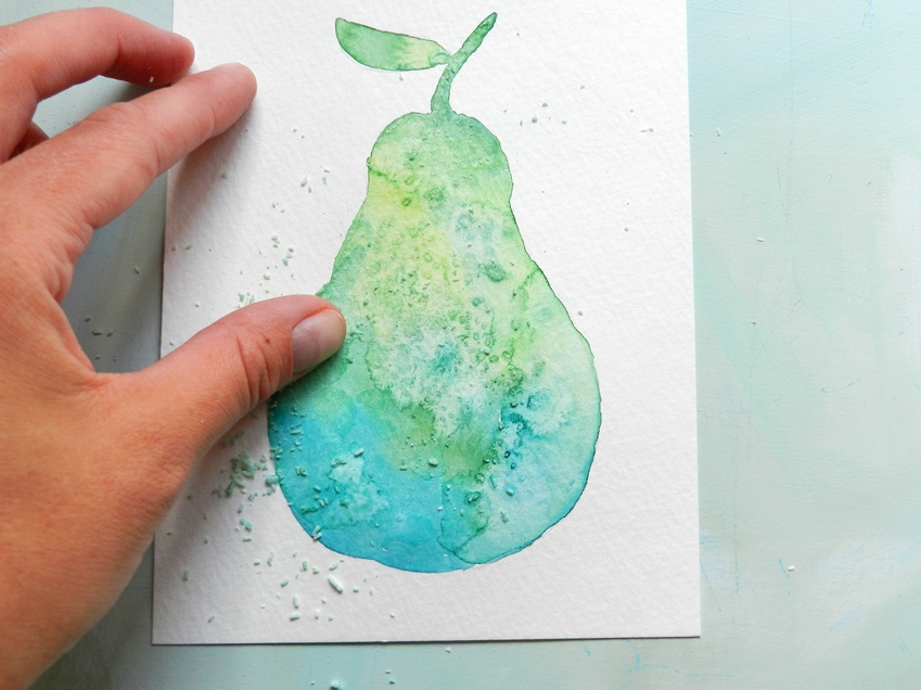 Watercolor Textures with Salt: grow creative