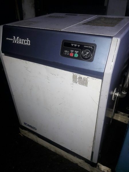máy nén khí cũ hiệu Kobelco công suất 11 kW hàng cũ Nhật Bản