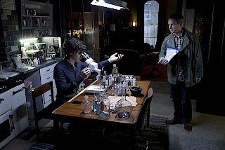 Benedict Cumberbatch and Martin Freeman as Sherlock Holmes and Dr John Watson in A Scandal in Belgravia