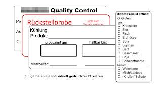 Wasserlösliche Etiketten vom Hygiene-Netzwerk