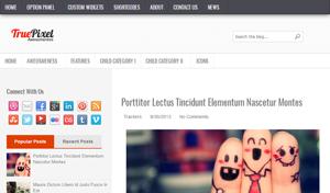TruePixel Free Blogger Template