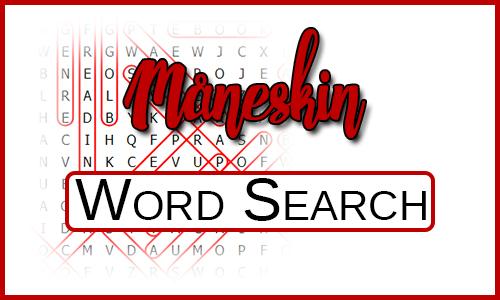 Måneskin Word Search