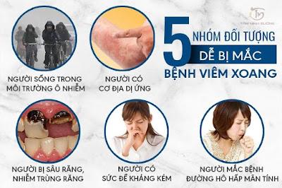 Những người dễ dàng mắc bệnh viêm xoang