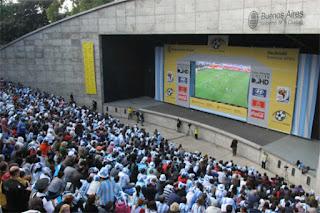 Mundial en vivo en Parque Centenario