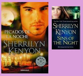 portadas de la novela romántica paranormal Pecados de la noche, de Sherrilyn Kenyon
