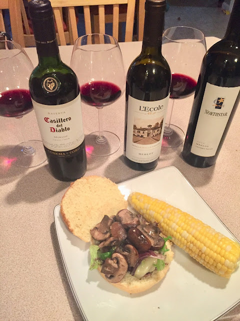 Swiss Turkey Burger with Sauteed mushroom merlot pairing