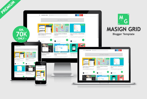 Masign Grid - Responsive Blogger Template