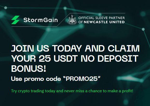 Bonus Crypto Tanpa Deposit StormGain 25 USDT