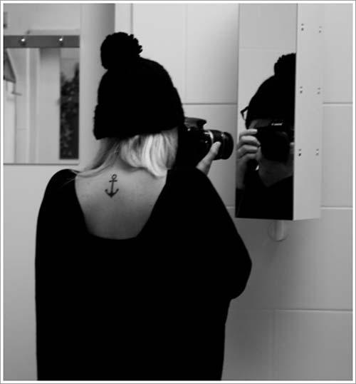 back anchor tattoo sırt çapa dövmesi