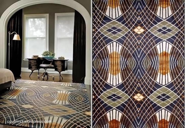 Alfombra de interior con diseño de estilo Art Decó