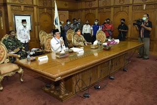 Gubernur Jambi Laporkan Penanganan Covid-19 Ke kepala VNPB.