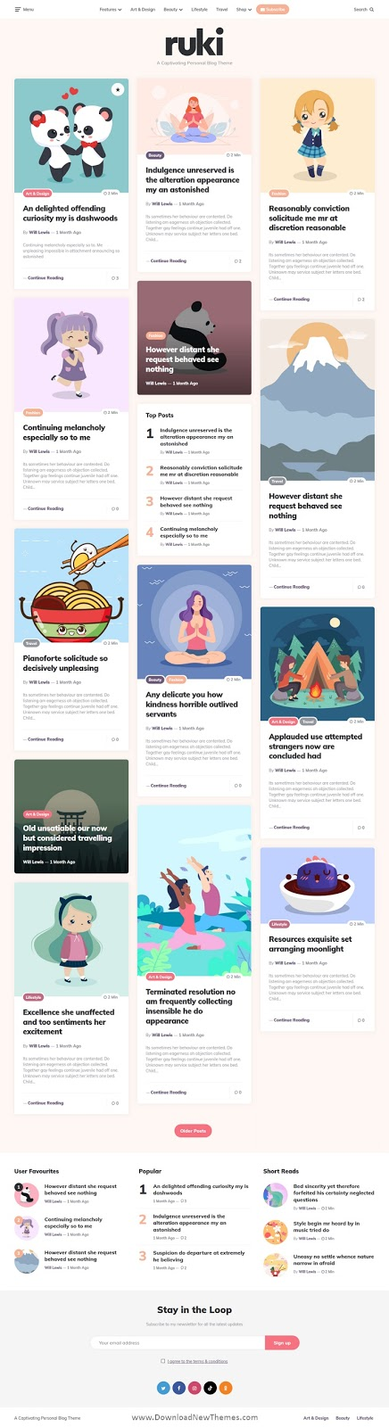 Download Captivating Personal Blog Theme