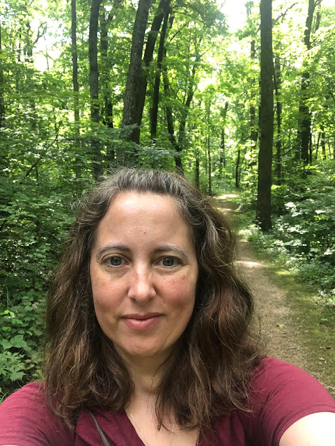 Forest bathing at Blue Mound State Park in Wisconsin