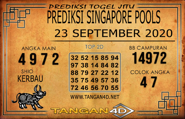 PREDIKSI TOGEL SINGAPORE TANGAN4D 22 SEPTEMBER 2020