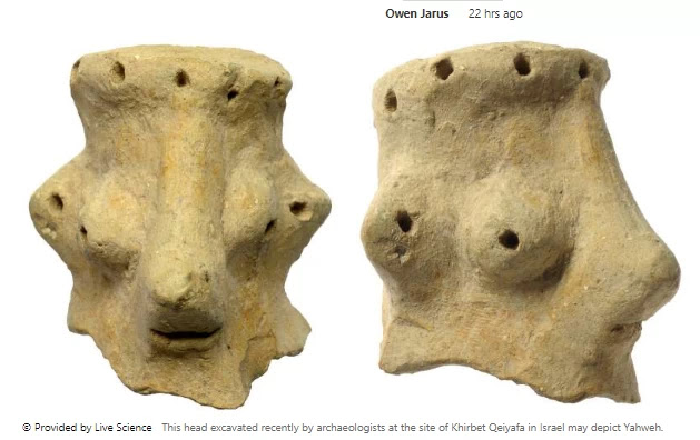 3,000-year-old head may additionally be face of God A clay head that dates again