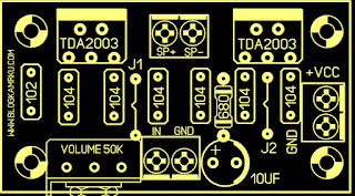 Ampli Mini Rakitan TDA 2003 BTL