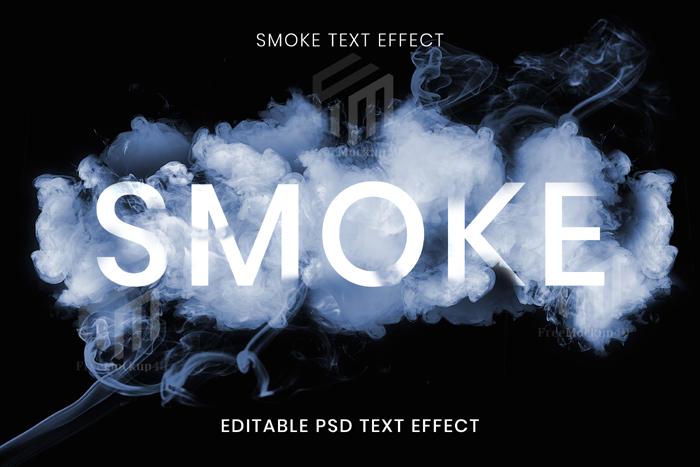 Editable Smoke Text Effect Psd Template